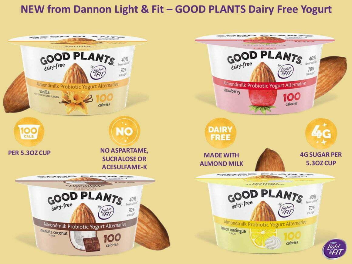 NEW FROM DANNON LIGHT & FIT – GOOD PLANTS DAIRY FREE YOGURT