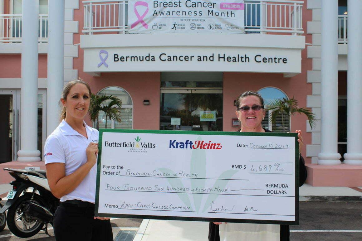 Kraft Cares Campaign donates $4,000+ to Bermuda Cancer & Health