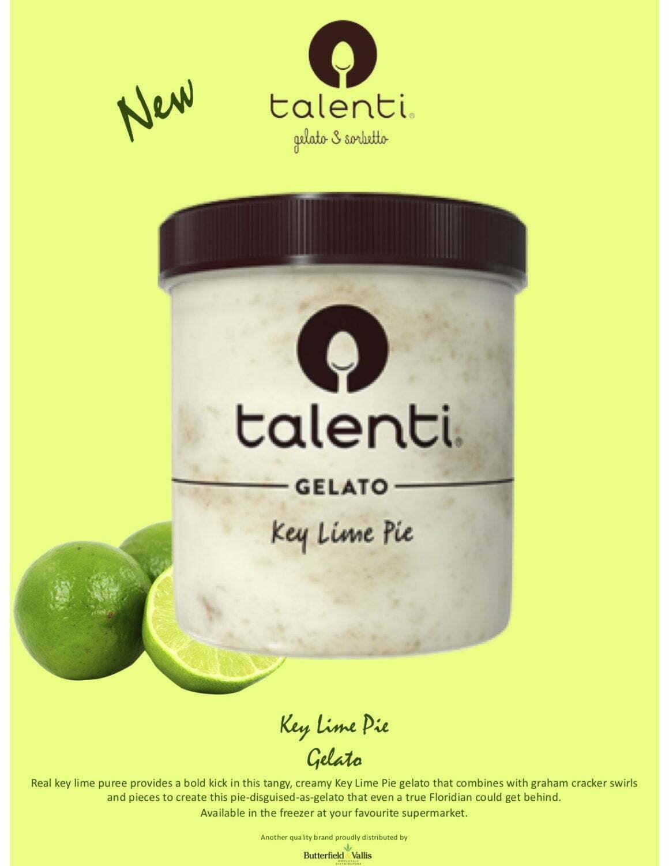 New from Talenti Key Lime Pie Gelato