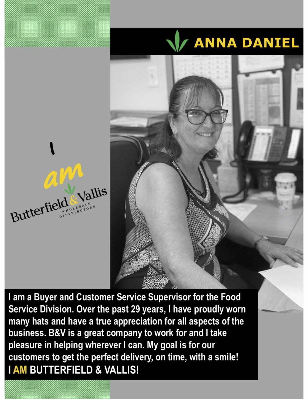 I am Butterfield & Vallis – Anna Daniel