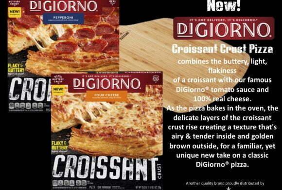 New DiGiorno Croissant Crust Pizza