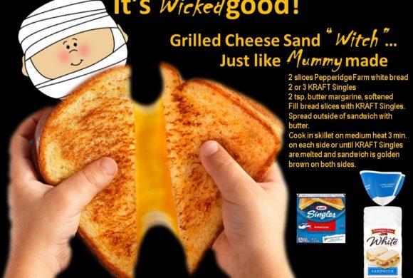 KRAFT Grilled Cheese Sandwich…It's WICKED good!