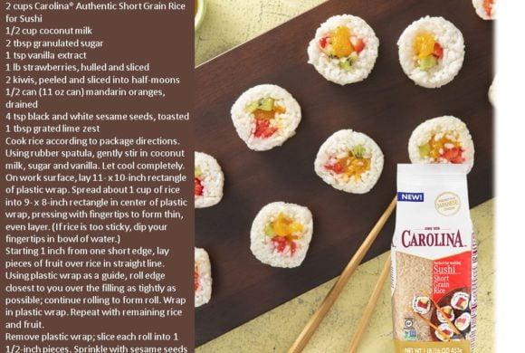 CAROLINA FRUIT SUSHI RICE