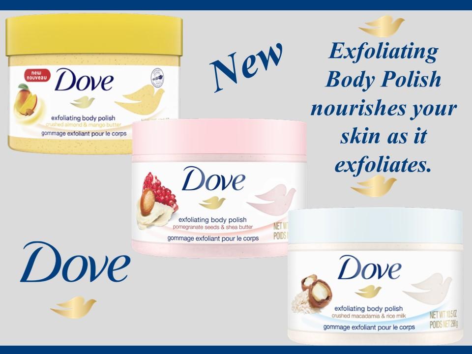 New…Dove Exfoliating Body Polish