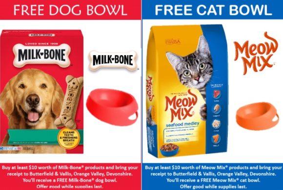 Free Milk Bone & Meow Mix Bowl!