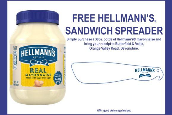 FREE HELLMANN'S® SANDWICH SPREADER