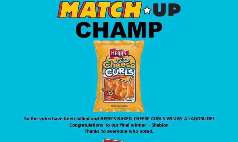 HERR'S MUNCHY MATCH-UP CHAMP